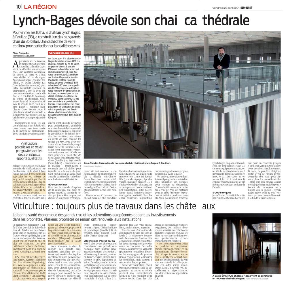Rénovation Lynch Bages BPM Architectes
